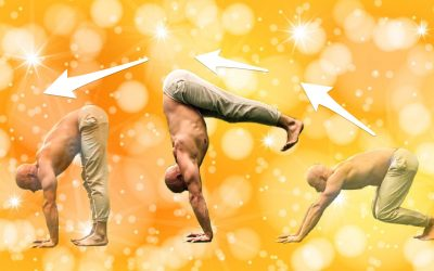 Handstand transitions for Yoga